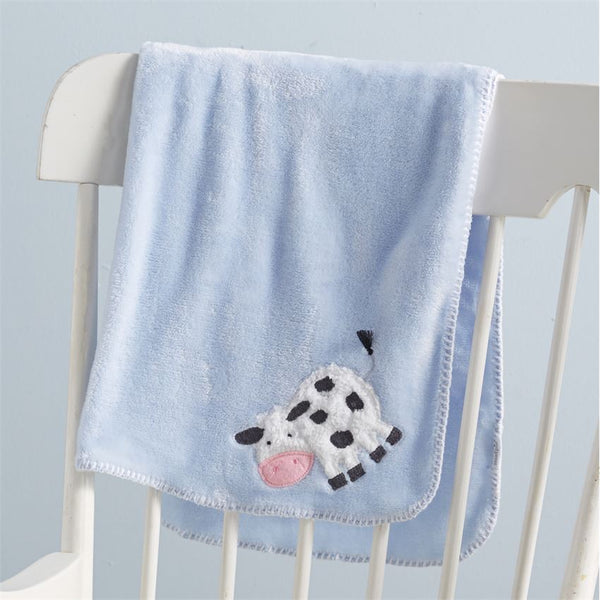 Cow Fleece Blanket by Mud Pie
