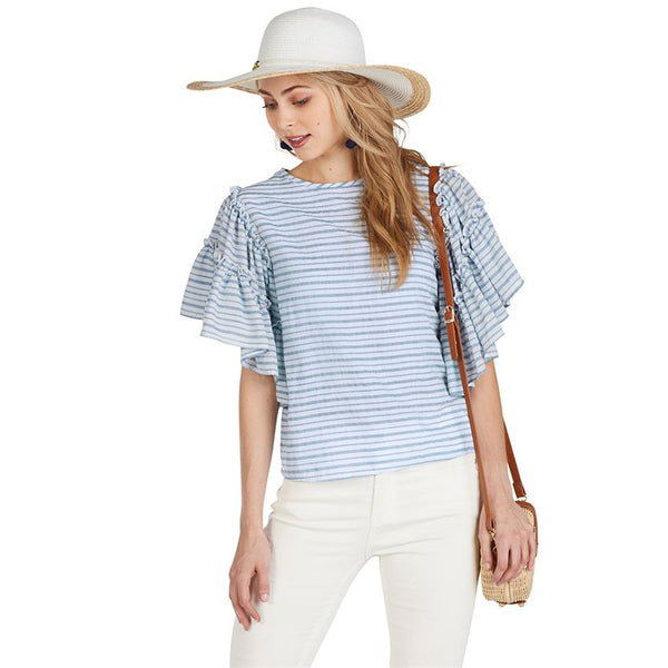 Mud Pie Culver Ruffle Sleeve Top