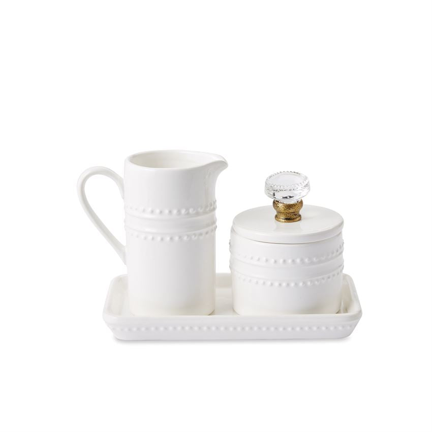 Door Knob Cream & Sugar Serving Set by Mud Pie