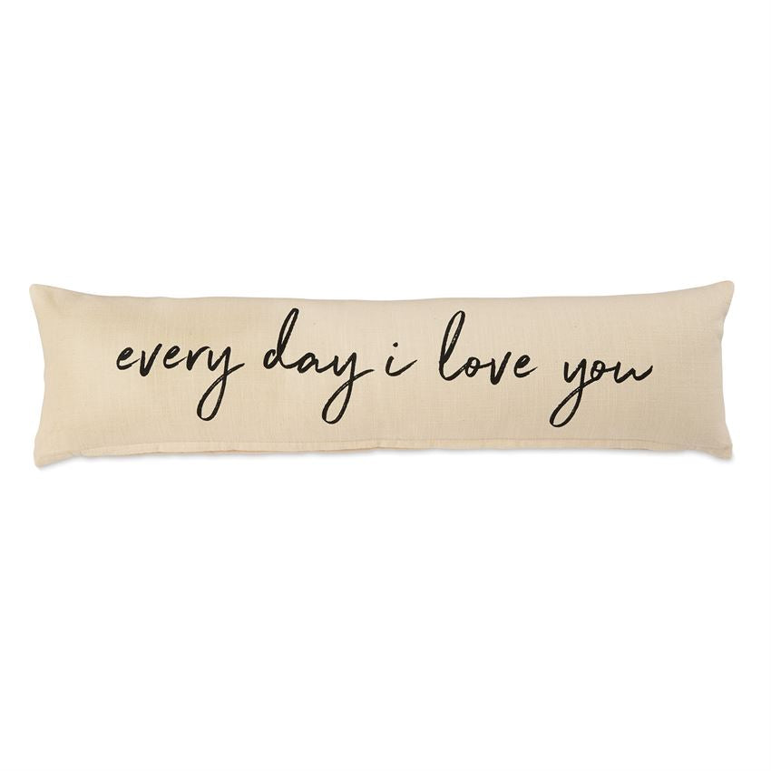 I Love You Long Pillow by Mud Pie La Boutique