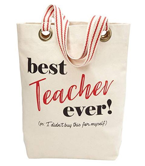 Mud Pie Grommeted Teacher Tote Bags