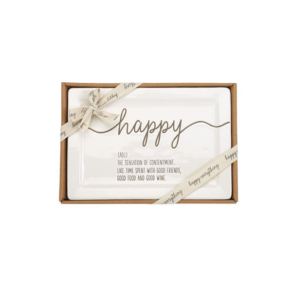 Happy Definition Boxed Ceramic Plate