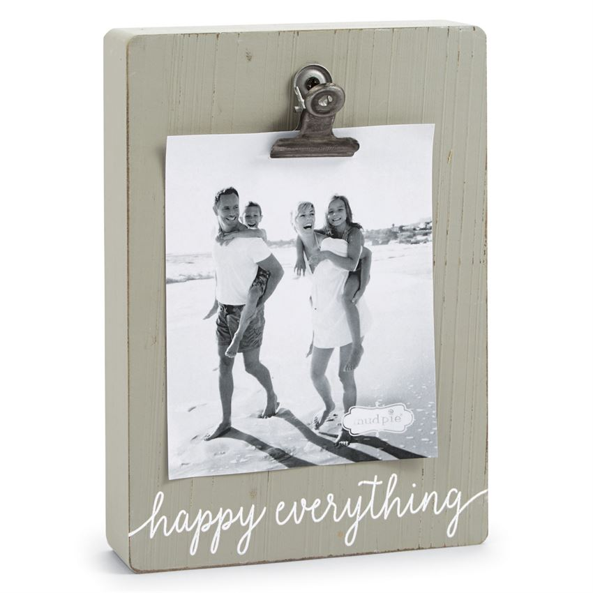 Happy Everything Block Frame by Mud Pie La Boutique