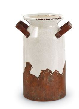 Crackle Terracotta Urns by Mud Pie