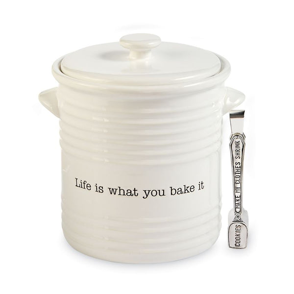 Mud Pie Life Is What You Bake It Cookie Jar Set