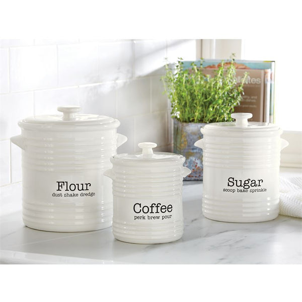 Ribbed Canister Set by Mud Pie