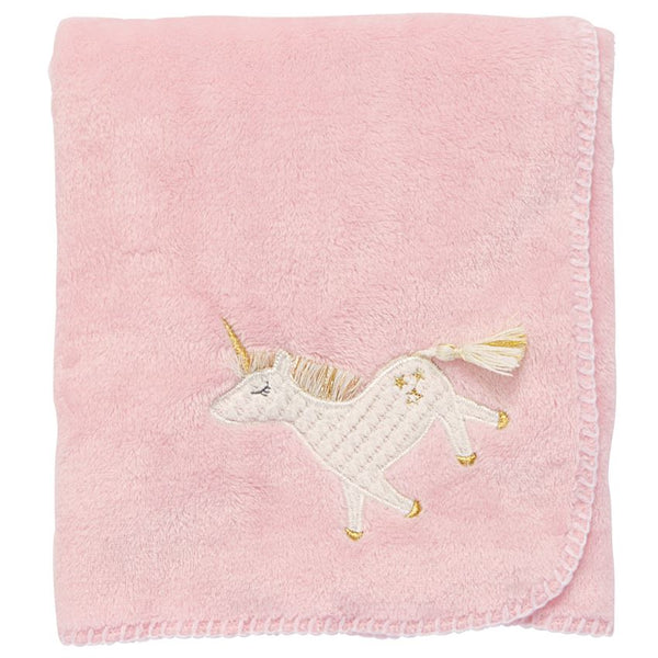Unicorn Fleece Blanket by Mud Pie