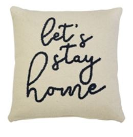 Mud Pie Let's Stay Home Boucle Pillow