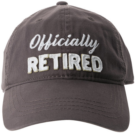 Officially Retired Gray Adjustable Hat by Pavilion Gifts La Boutique