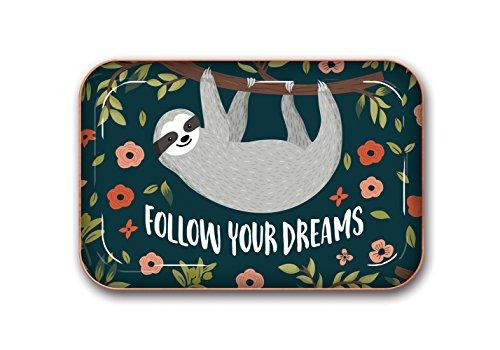 La Boutique Follow Your Dreams Sloth Metal Catchall Tray by Studio Oh!