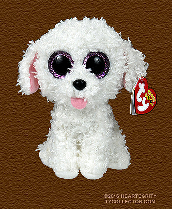 Ty Beanie Boos Dog Poodle Pippie White by Ty Inc