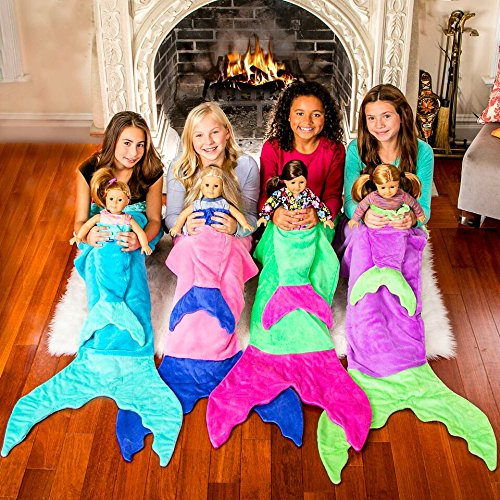 "Blankie Tails Original Mermaid 18"" Doll Mermaid Tail Blanket"