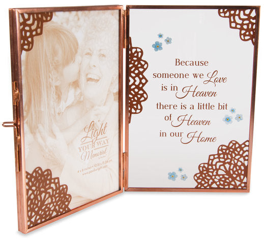 "Heaven - 4"" x 6"" Glass Hinged Frame by Pavilion Gifts La Boutique"