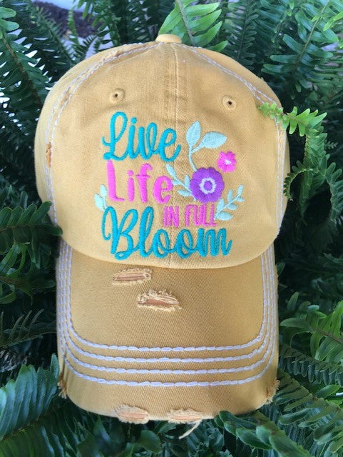 "Patch Cap ""Life Life in Full Bloom"""