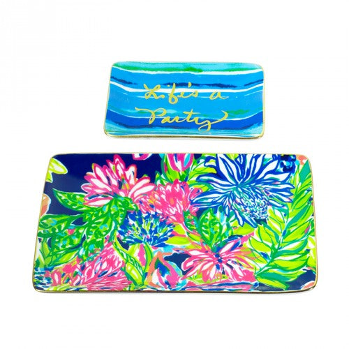 Lilly Pulitzer Trinket Tray Set in Traveler's Palm