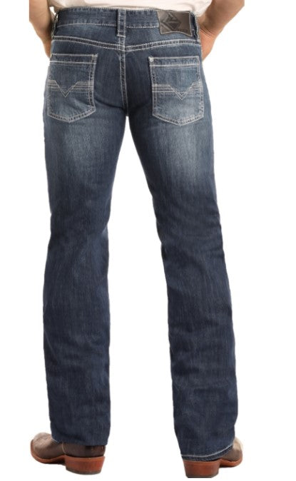 Rock & Roll Denim Regular Fit Stretch Pistol Straight Leg Jeans M1P3473