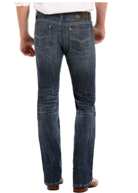 Rock & Roll Denim Revolver Slim Fit Stretch Straight Leg Jeans M1R3482