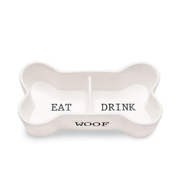 Mud Pie Eat & Drink Bone Pet Bowl 40220022