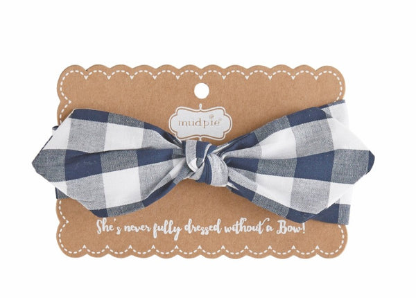 Mud Pie Navy or Red Gingham Headbands 1512228