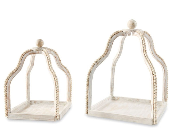 Mud Pie Wood Beaded Lanterns | Small and Large 40320042
