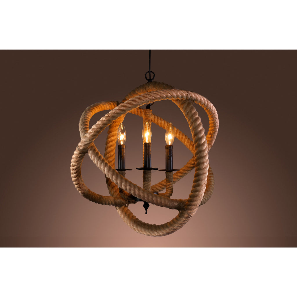 Rope Orb Chandelier