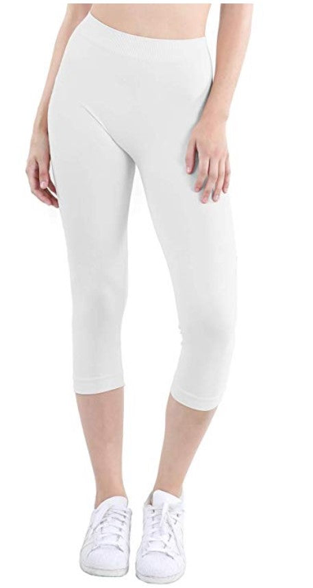 Nikibiki Cropped White Leggings One Size