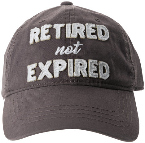 Retired Not Expired - Gray Adjustable Hat by Pavilion Gifts