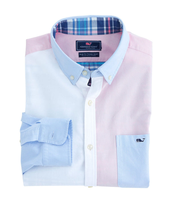 Vineyard Vines Long-Sleeve Slim Tucker Shirt - Party Oxford 1W3190-998