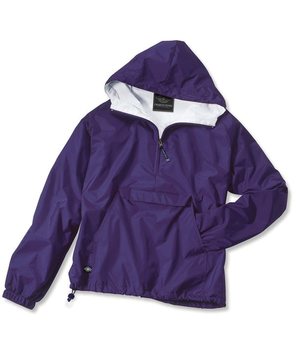 Solid Classic Rain Jacket Pullover By Charles River Apparel