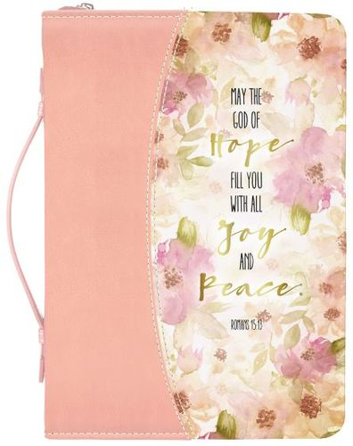 Divine Details Peach Flowers Bible Cover Romans 15:13 27393