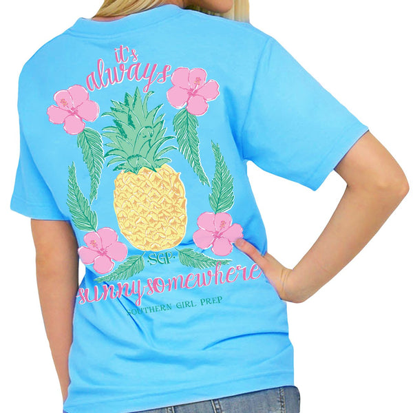 Southern Girl Prep Tee It's Always Sunny Somewhere-Short Sleeve