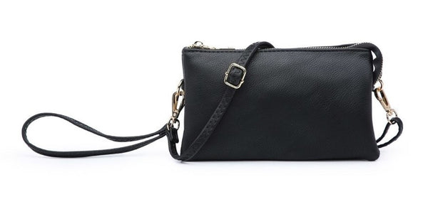 Jen & Co Riley Compartment Wristlet /Crossbody Black MO13-BK