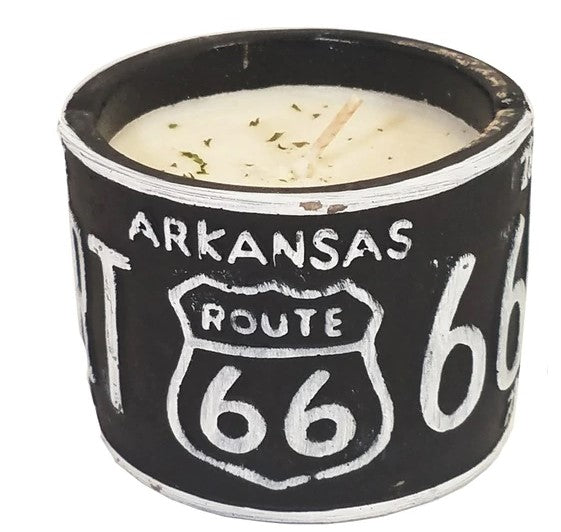 American Highway Arizona License Plate Candle Pot