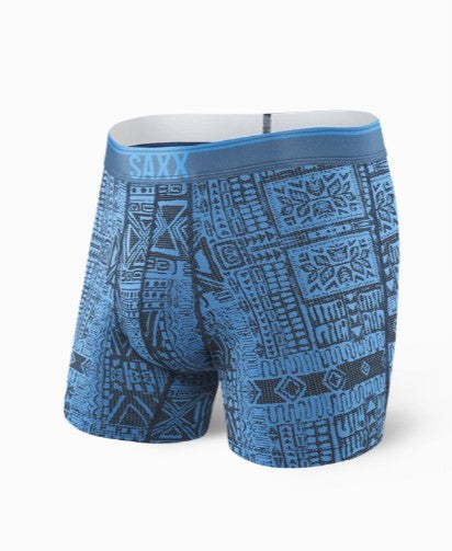 SAXX Underwear Quest Fly Boxer Brief | Blue Dive Tribe SXBB71F-BDT