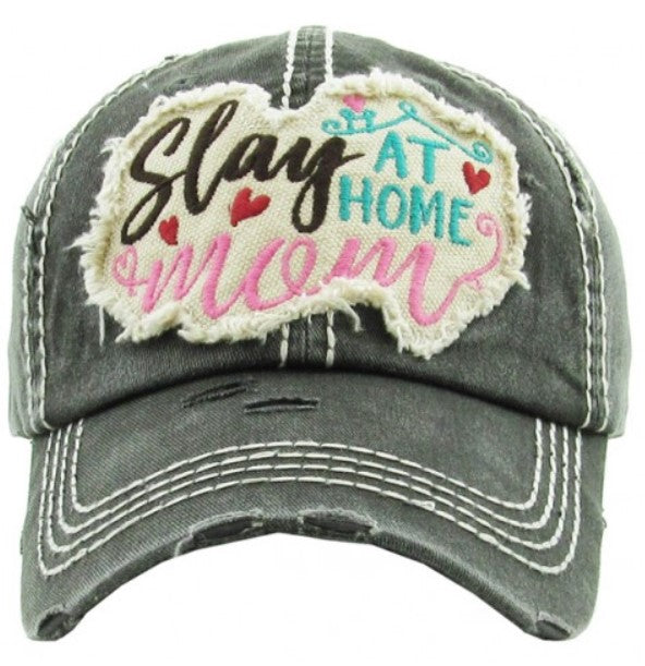 "Patch Cap ""Slay At Home Mom"" Black"