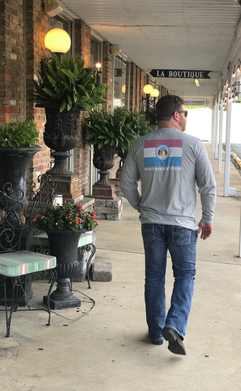 Southern Tide Special Edition Long Sleeve Skipjack State of Missouri
