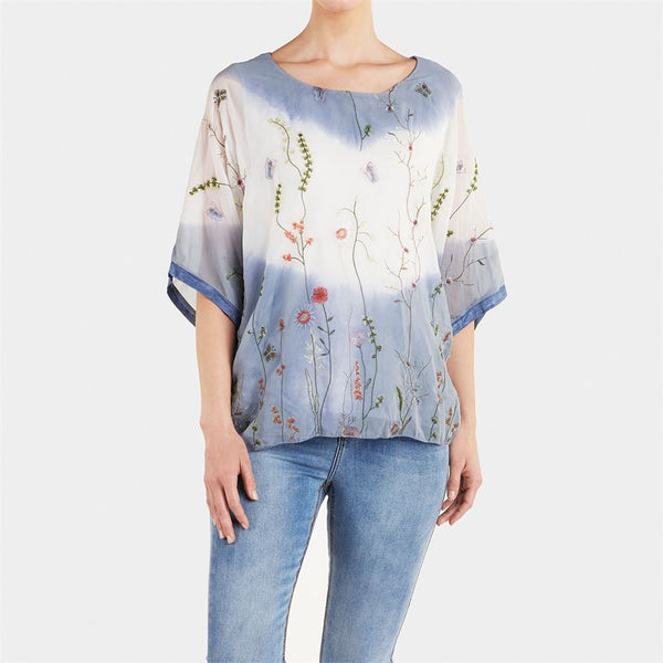 Coco + Carmen Spring Meadow Embroidered Top