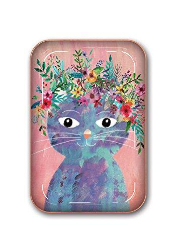 La Boutique Flower Cat Metal Catchall Tray by Studio Oh!