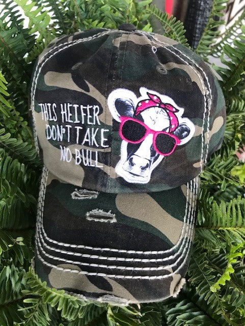 "Patch Cap ""This Heifer Don't Take No Bull"""