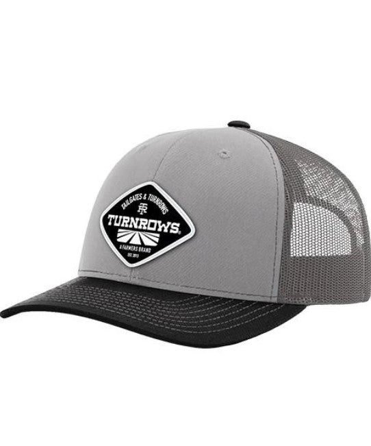 Turnrows Woven Patch Mesh-Back Adjustable Hat