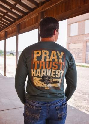 Turnrows Pray Trust Harvest Long Sleeve T-Shirt