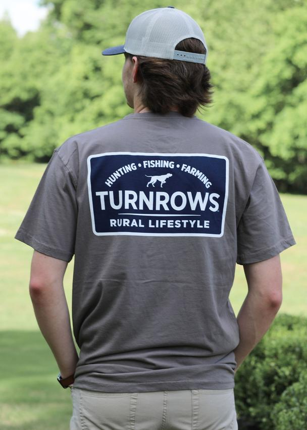 "Turnrows ""Rural Lifestyle"" Mens Short Sleeve Pocketed Tee TRW61CP0RLF"