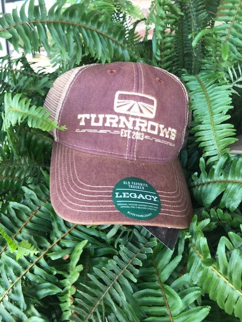 Turnrows Vintage Wash Logo Hat