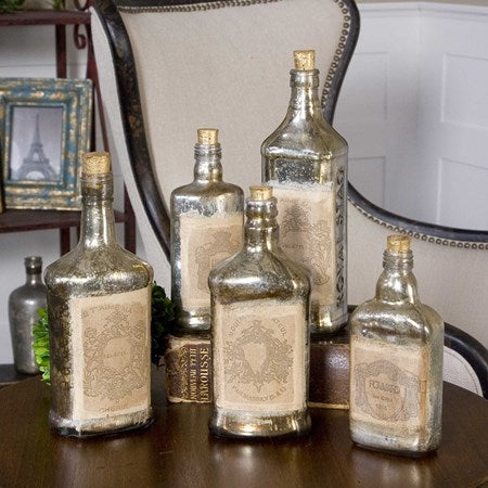 Uttermost Recycled Bottles Set of 5 19754