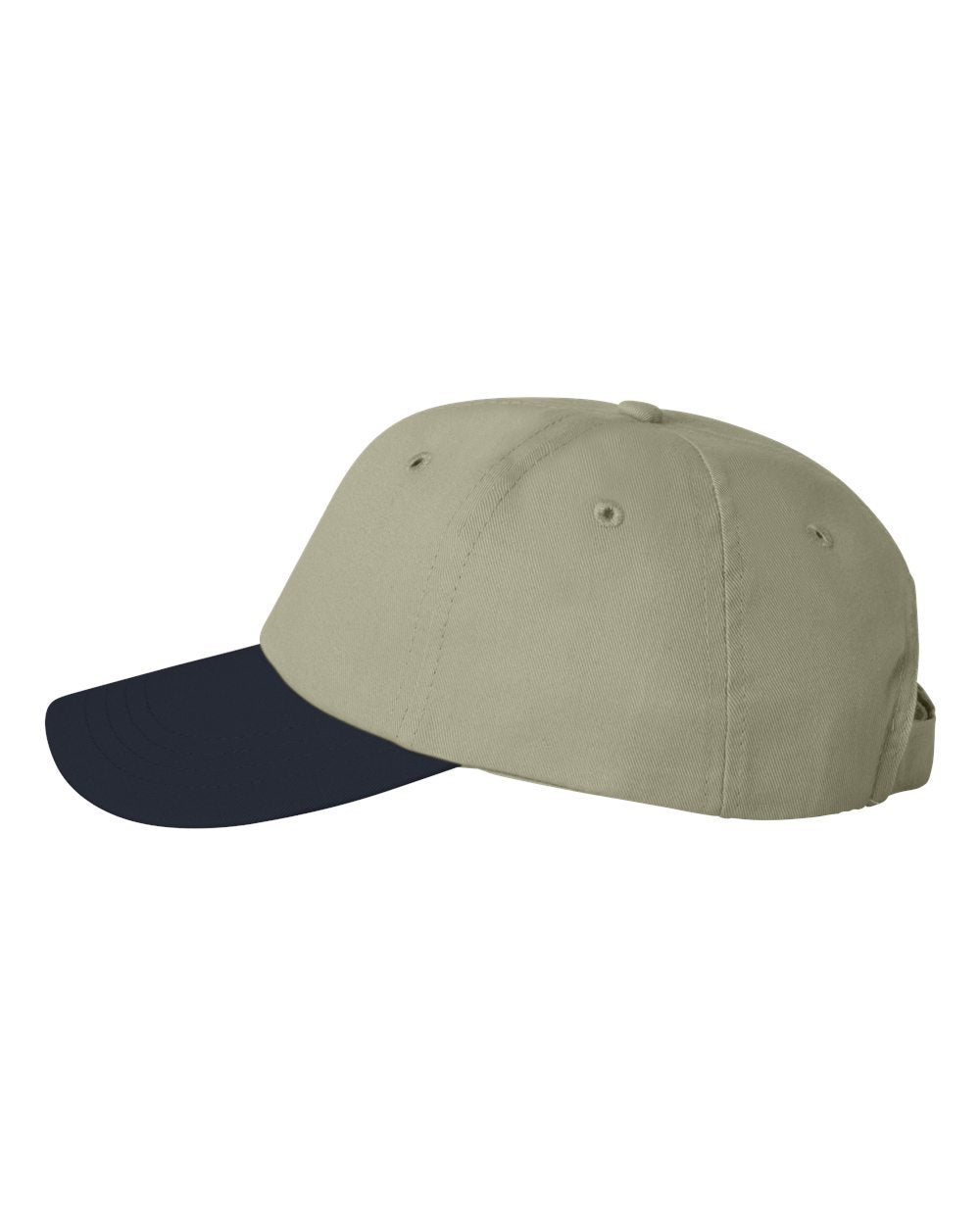Monogram Adult Cap Valucap Econ Cotton Twill Khaki/Navy