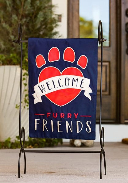 Welcome Furry Friends Double Sided Garden Flag 168746