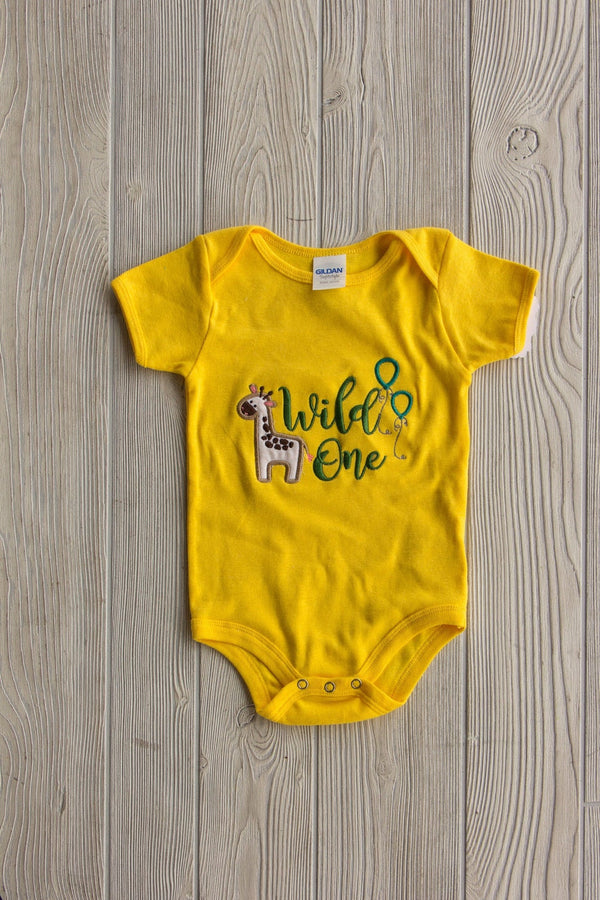 Wild One Diaper Shirt Gold