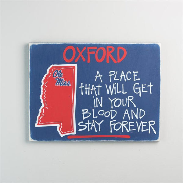 Ole Miss Map Sign