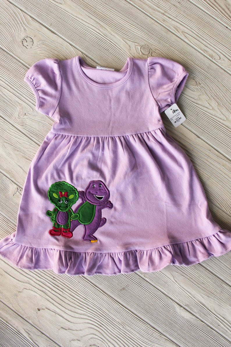 Barney and Baby Bop Girls Dress Darling Custom Designs