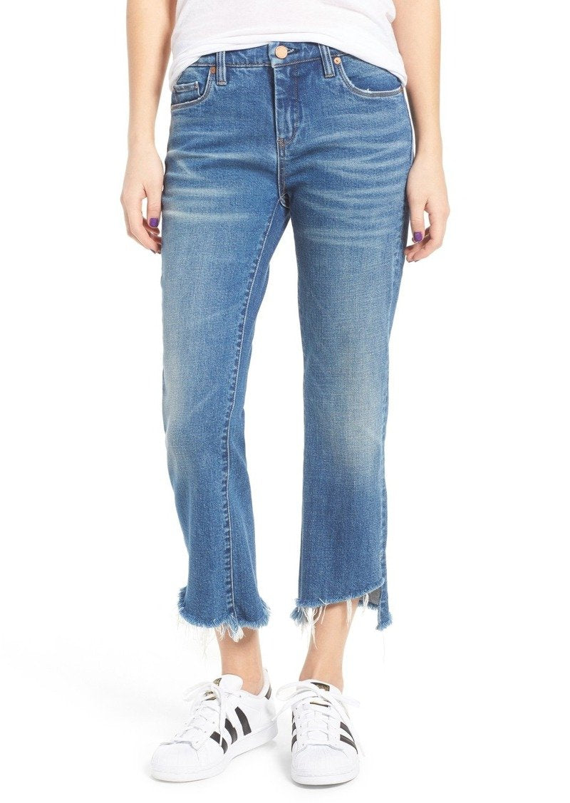 BlankNYC Shredded Kick Flare Jeans